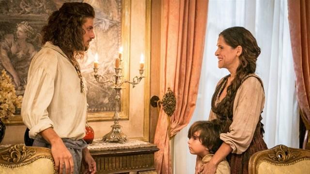 """Joaquim e Elvira em """"Novo Mundo"""" (Foto: Divulgação)"""