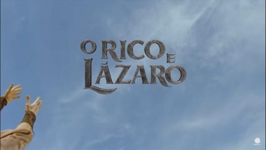 Logo da novela O Rico e Lázaro (Foto: Reprodução/Record)