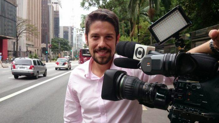 O jornalista Phelipe Siani no JN (Foto: Divulgação)