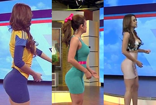 Yanet é garota do tempo em canal de TV mexicano. (Foto: Reprodução)
