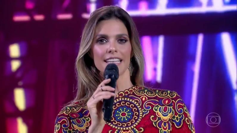 """Fernanda Lima na estreia do """"PopStar"""" (Foto: Reprodução/Globo)"""