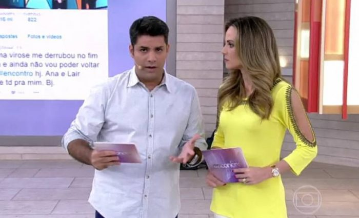 """O apresentador divide o programa """"Encontro"""" com Ana Furtado (Foto: Reprodução)"""