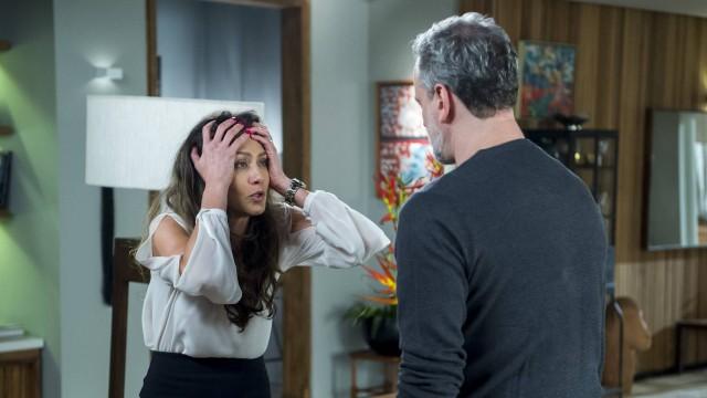 Joyce (Maria Fernanda Cândido) e Eugênio (Dan Stulbahc) em A Força do Querer (Foto: Divulgação/Globo)