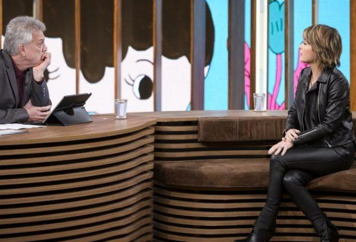 Cláudia Abreu em entrevista na Globo