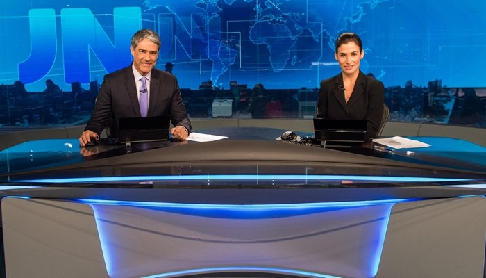 William Bonner e Renata Vasconcellos no Jornal Nacional (Foto: Globo/João Cotta)
