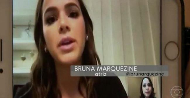 Bruna Marquezine no Jornal Hoje (Foto: Reprodução)