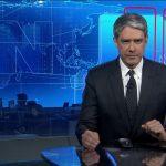 """William Bonner no comando do """"Jornal Nacional"""" (Foto: Reprodução/Globo)"""