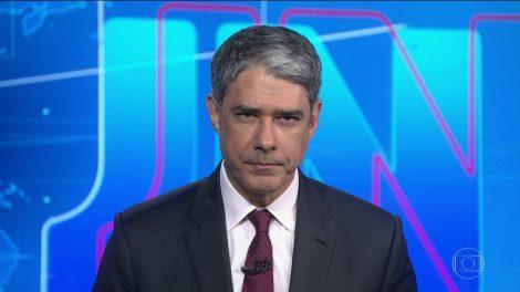 """O apresentador William Bonner no """"Jornal Nacional"""" (Foto: Reprodução/Globo)"""