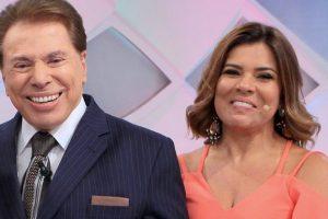 """Silvio Santos e Mara Maravilha no """"Programa Silvio Santos"""" (Foto: Lourival Ribeiro/SBT)"""