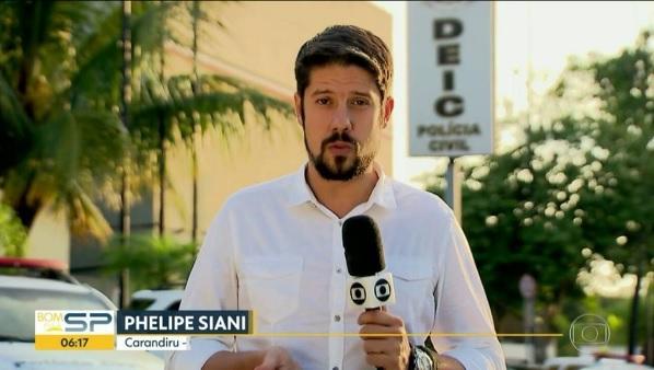 O repórter Phelipe Siani. (Foto: Reprodução/Globo)