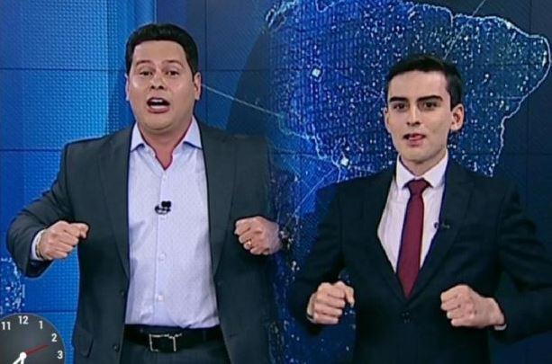 Dudu e Marcão no 'Primeiro Impacto' (Foto: Reprodução)