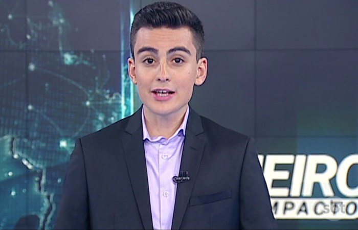 O apresentador Dudu Camargo. (Foto: Reprodução/SBT)