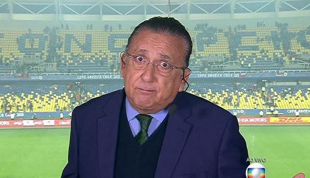 Galvão na Globo. (Foto; Reprodução)