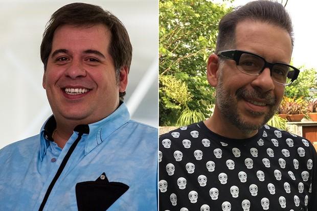 Leandro Hassum antes e depois (Foto: Reprodução)