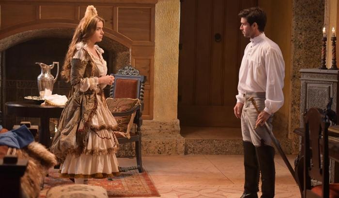 """Pietra (Rayanne Morais) e Enrico (Bernardo Velasco) em cena de """"Belaventura"""" (Foto: Blad Meneghel/Record)"""