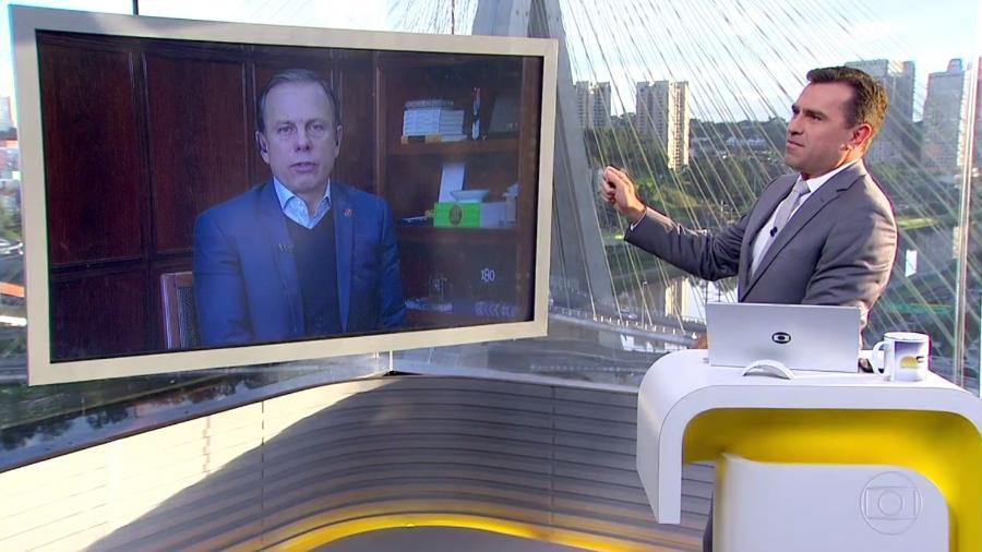 Prefeito de São Paulo é interrompido durante telejornal da Globo e fica sem graça
