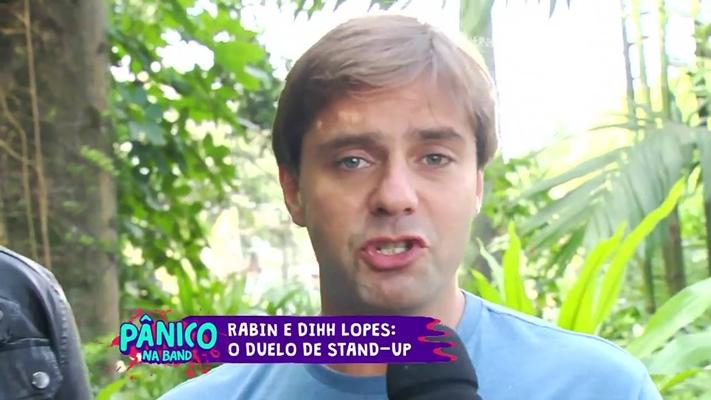 """Fábio Rabin no """"Pânico"""". (Foto: Reprodução/Band)"""