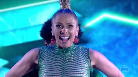 """Adriane Galisteu na estreia da edição 2017 da """"Dança dos Famosos"""" (Foto: Reprodução/Globo)"""