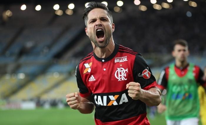 O jogador Diego Ribas na partida entre Flamengo x Botafogo; clube é o único sem contrato com a Globo para o Campeonato Carioca (Foto: Gilvan de Souza/Flamengo)