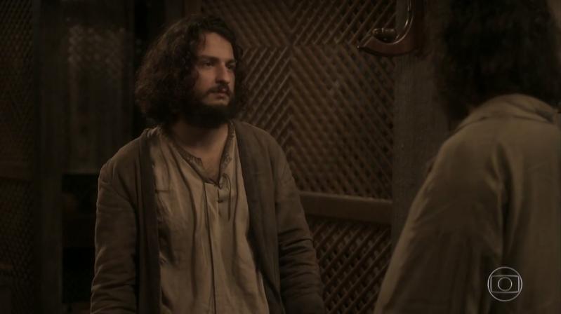 Hugo (Cesar Cardadeiro) em cena de Novo Mundo (Foto: Reprodução/Globo)