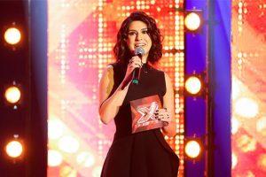 """Fernanda Paes Leme na coletiva do """"X-Factor""""; apresentadora pode comandar o """"Exalthon Brasil"""" (Foto: Divulgação/Band)"""