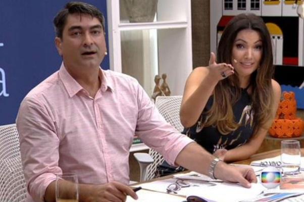 Patrícia e Zeca Camargo no comando do É de Casa. (Foto: Reprodução/Globo)