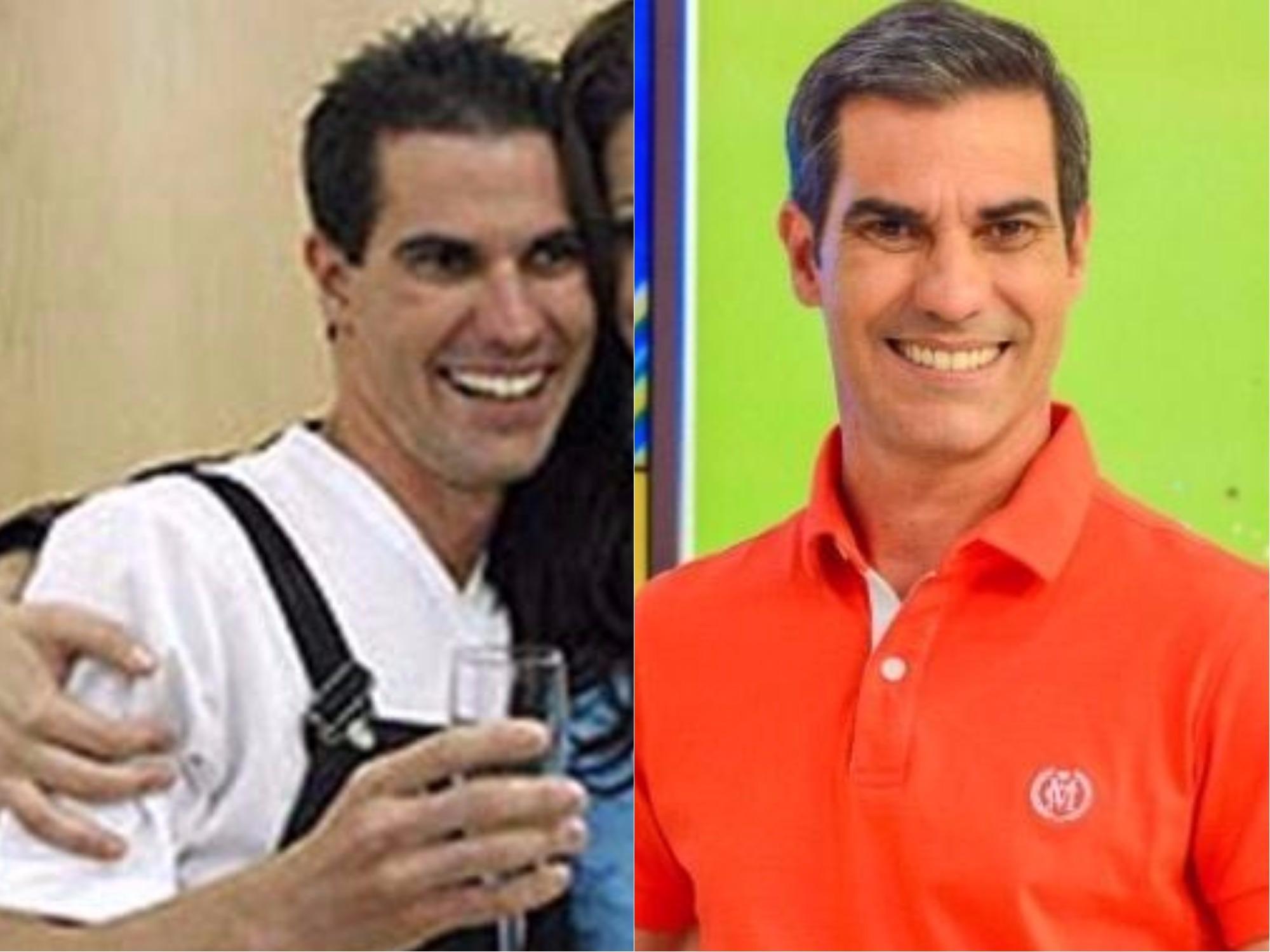 Sergio Paiva antes e depois do Casa dos Artistas (Foto: reprodução)
