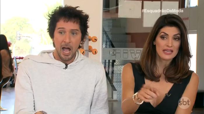"""Arlindo Grund e Isabela Fiorentino no """"Esquadrão da Moda"""" (Foto: Reprodução/SBT)"""