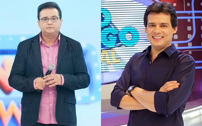 Celso Portiolli recebeu Sonia Abrão e o Domingo Legal tem massacrado Geraldo Luís e o Domingo Show na Record. (Foto: Reprodução)
