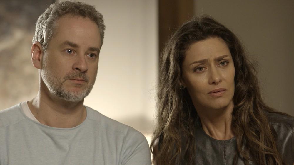 """Eugênio (Dan Stulbach) e Joyce (Maria Fernanda Cândido) em cena de """"A Força do Querer"""" (Foto: Divulgação/Globo)"""
