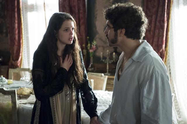 Domitila (Agatha Moreira) e Pedro (Caio Castro) em cena de 'Novo Mundo' (Foto: Globo/Estevam Avellar)