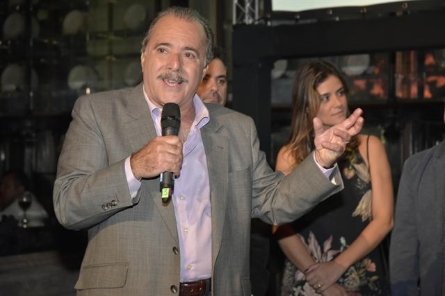 Tony Ramos no lançamento de 'Tempo de Amar' (Foto: Globo/Cesar Alves)