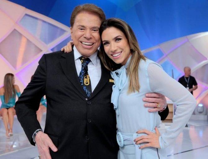 Silvio Santos e Patricia Abravanel (Foto: Reprodução)