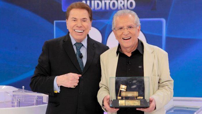 Silvio Santos e Carlos Alberto de Nóbrega (Foto: Lorival Ribeiro/SBT) sbt
