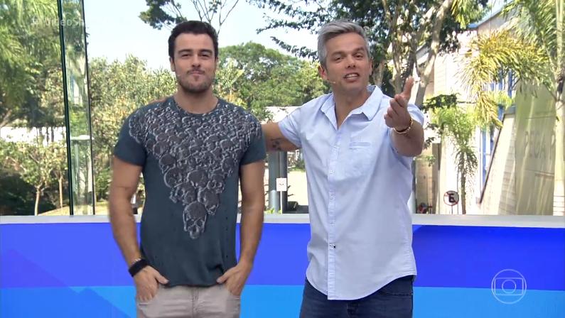 """Joaquim Lopes e Otaviano Costa no comando do """"Vídeo Show"""" (Foto: Reprodução/Globo)"""