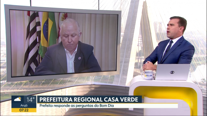 Rodrigo Bocardi entrevista prefeito de São Paulo (Foto: Reprodução)
