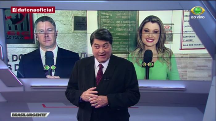 """Datena deixa o """"Brasil Urgente"""" às pressas após dor de barriga ao vivo"""