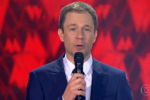"""O apresentador Tiago Leifert na estreia da sexta temporada do """"The Voice Brasil"""" (Foto: Reprodução/Globo)"""