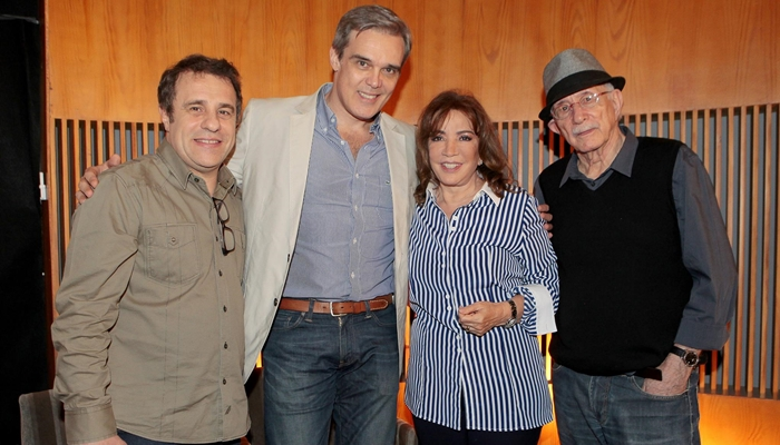 Fernando Pelegio, Dalton Vigh, Iris Abravanel e Reynaldo Boury (Foto: Lourival Ribeiro/SBT)