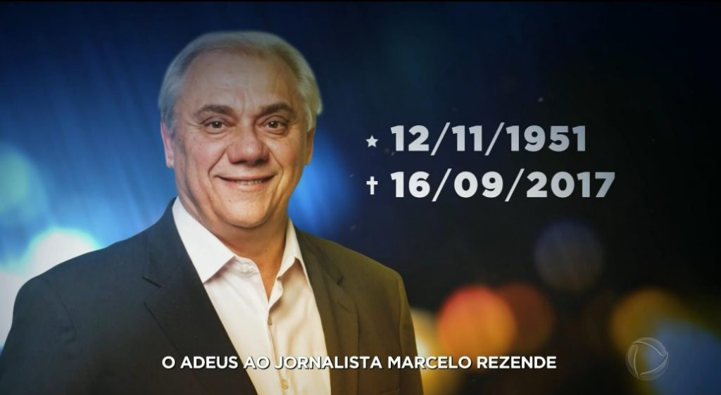 O adeus ao jornalista Marcelo Rezende. Foto: Reprodução/Record)