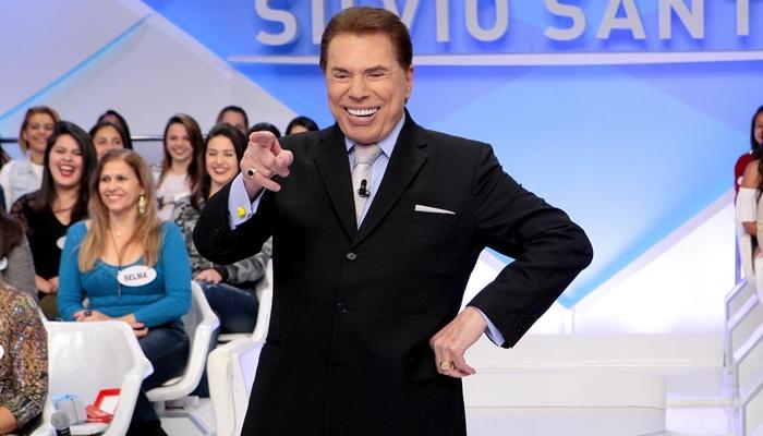 Silvio Santos em seu programa dominical no SBT (Foto: Lourival Ribeiro/SBT)
