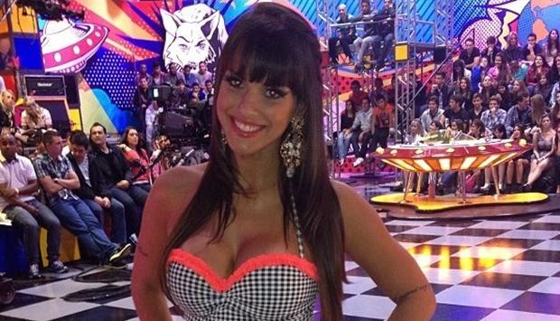 """Carol Dias no """"Pânico na Band"""" (Foto: Divulgação)"""