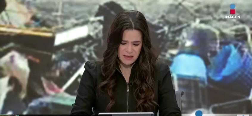 A apresentadora caiu no choro ao dar a notícia triste. (Foto: Reprodução)