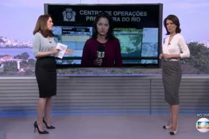 """As jornalistas Ana Luíza Guimarães e Mariana Gross comandam edição extra do """"RJTV"""" (Foto: Reprodução/Globo)"""