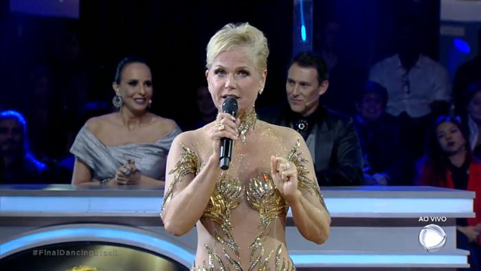 """Xuxa Meneghel na final da segunda temporada do """"Dancing Brasil"""" (Foto: Reprodução/Record)"""