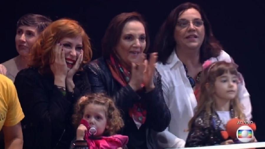 Atriz da Record fez uma rápida aparição na tela da Globo. (Foto: Reprodução/Globo)