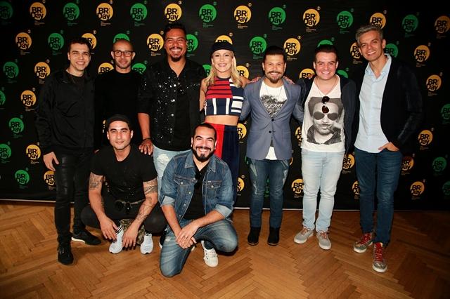 Sorriso Maroto, Claudia Leitte, Marcos & Belutti e Otaviano Costa (Foto: Globo/ Luiz C. Ribeiro)