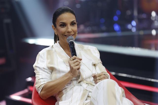 Ivete Sangalo no lançamento do 'The Voice Brasil 6' (Foto: Globo/Fábio Rocha)