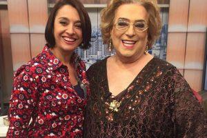 Catia Fonseca e Mamma Bruschetta saíram para jantar juntas.(Foto - divulgação)