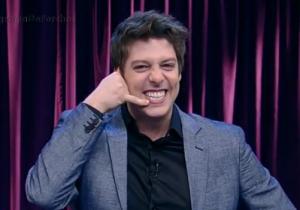 O apresentador Fábio Porchat (Foto: Reprodução/Record)